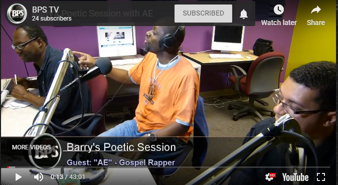 A-Eazy on Barry's Poetic Session